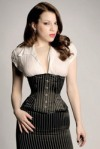 Corset worn as outerwear
