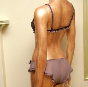 SandMaidenSleepwear Bridal silk georgette flutter sleep pantie
