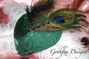 peacock baby merkin Goth Fox