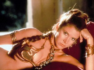 Princess Leia in the Gold Bikini