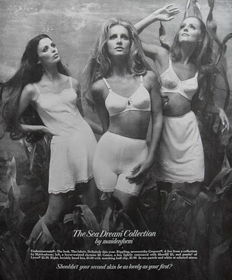 1969 Maidenform Bra Slip Chemise Panties 1960s fashion photo women illustration underwear advertisement