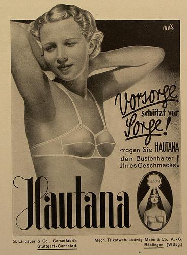 Vintage European Bra Ad