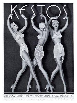 Kestos Art Deco Lingerie Ad