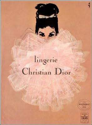 Mid Century Christian Dior Lingerie Ad